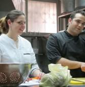 שף טיבו ברה ושירה (מורן ) רוטמן מבשלים בצרפתית אצל מאיר השמן