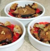 סינייה צמחונית של חציל וכרובית