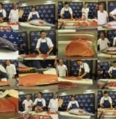 סדנת חיתוך טונה כחול סנפיר עם שף טאקהטושי טושי מקליפורניה