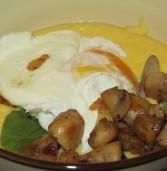 פולנטה טרייה , ביצה עלומה, ופטריות
