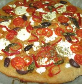 """פיצה ביאנקה עם גבינת """"פרומעז וקמח שמרים אוסם"""