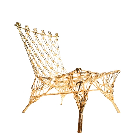 Marcel Wanders  Golden Knotted Chair (Personal Editions)  2009