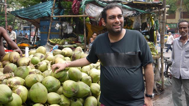 Gaggan Anand in Kolkata market