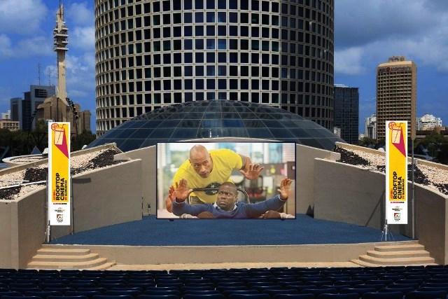 גלובוס מקס - קולנוע פופ אפ על גג עזריאלי