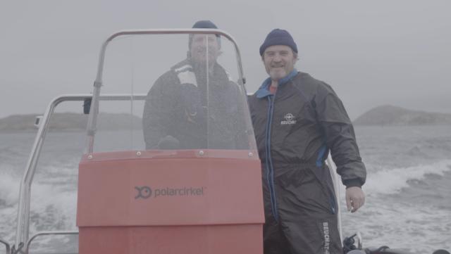 Esben with Roderick Sloan at Nordskot