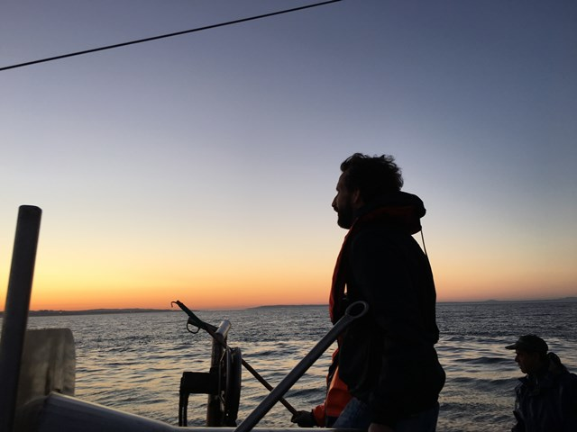 Avillez 2 - Chef Jose Avillez goes fishing for octopus at sun rise in his hometown Cascais.