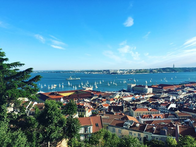 Avillez 9 – The view over Lisbon form the Sao Jorge Castle.