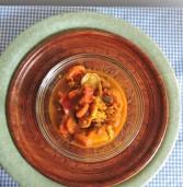 סבז'י ירקות ופירות הודי בצ'אטני מעודן