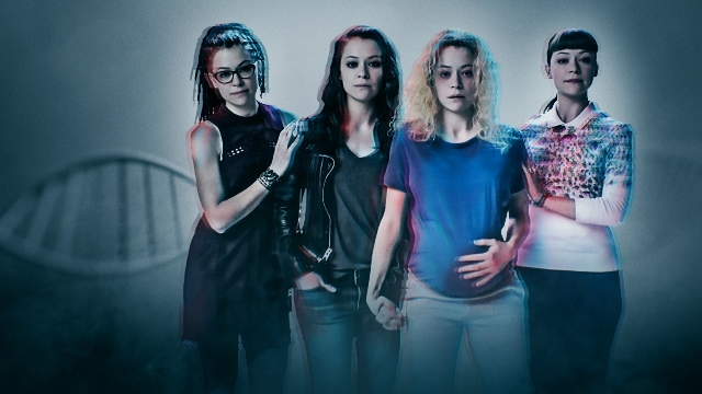 Picture Shows: Cosima, Sarah, Cosmia and Alison (TATIANA MASLANY)