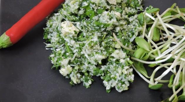 טאבולה צמחונית כרובית וברוקולי