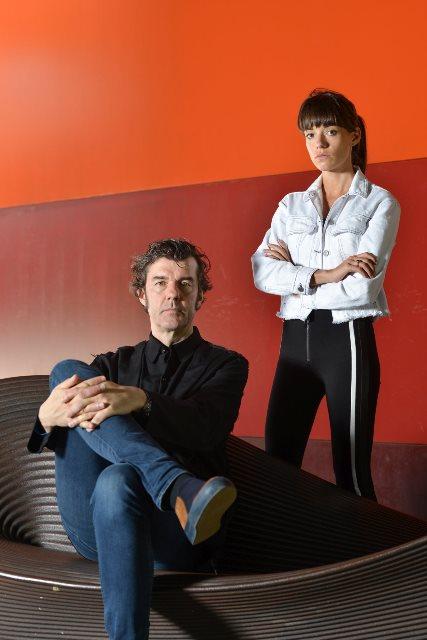 גסיקה וולש וסטפן זגמייסטר במוזיאון העיצוב חולון. צילום שי בן אפרים