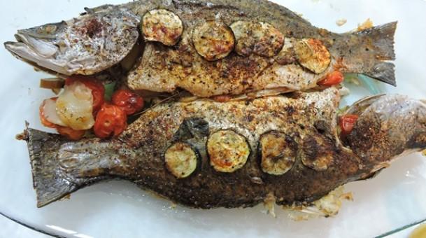דג ברמונדי בתנור