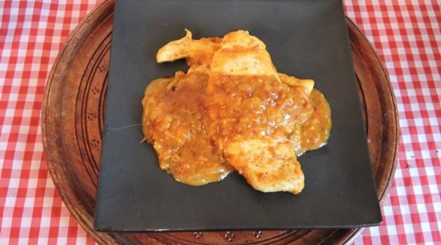 חזה עוף בסגנון קארי הודי Chicken Masala