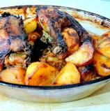 תרנגולת עם תפוחי אדמה