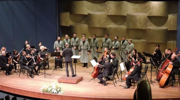 הקשר הגֵאורגי קונצרט התזמורת הקאמרית הישראלית עם מקהלת הגברים מגאורגיה