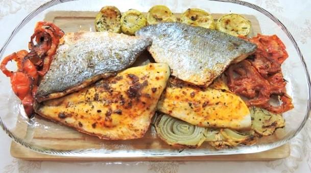 דג דניס בציפוי אריסה טפנד קלמטה של מסעדן