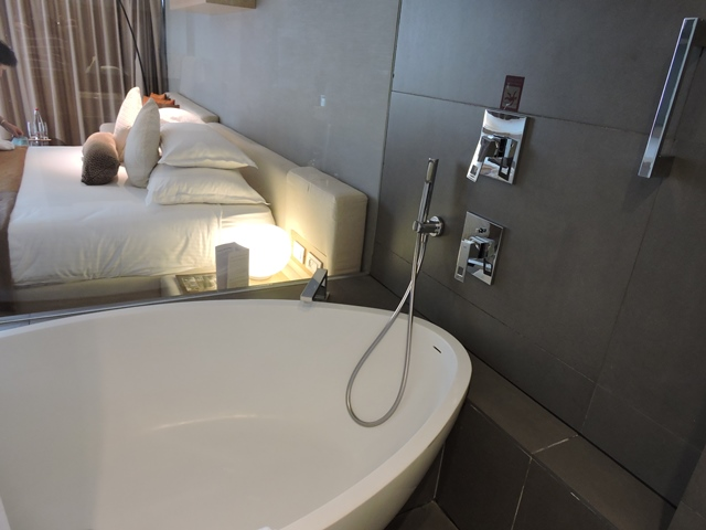 מבט מהאמבט לחדר